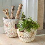 Декор горшков для цветов своими руками