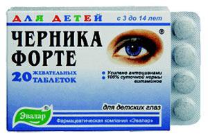 Лекарства для улучшения зрения