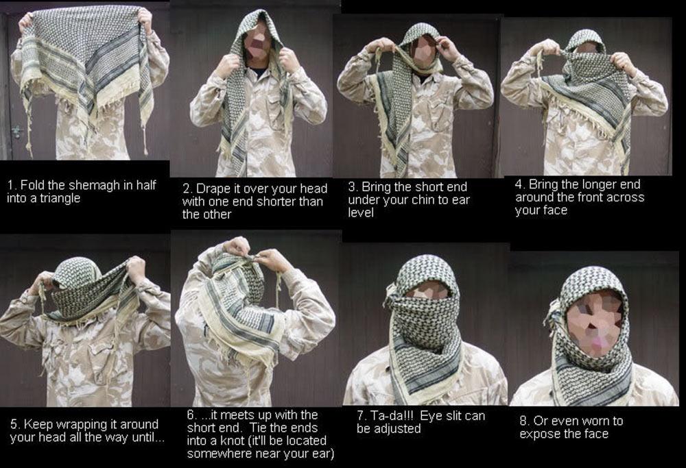 Как завязать арафатку на голове