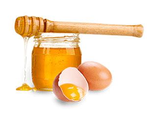 Маска из меда и желтка